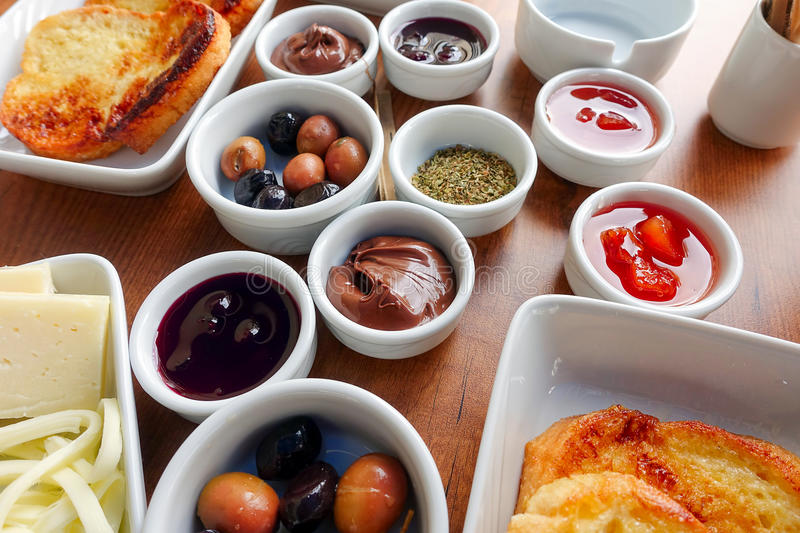 Traditional Rich Turkish Breakfast stock image