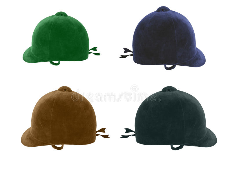 Traditional riding hats stock photo