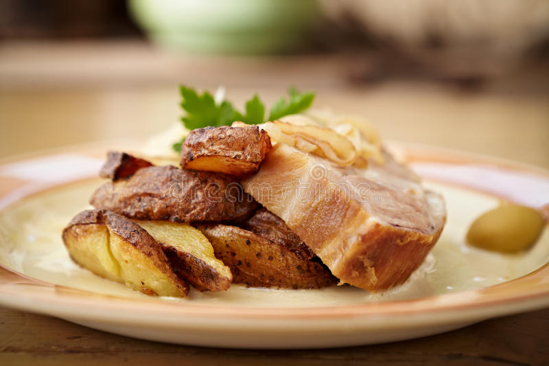 Download Traditional roast pork stock photo. Image of food, healthy - 33550408