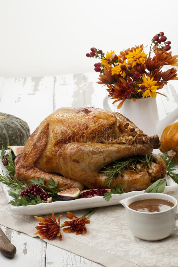 Traditional Roasted Turkey royalty free stock photo