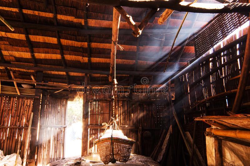 Traditional rock salt mine in northern of Thailand royalty free stock image
