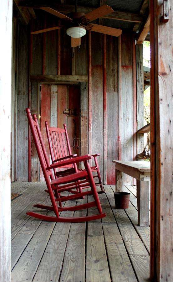 Fine Rocking Chair On Wood Deck Stock Image Image Of Historical Bralicious Painted Fabric Chair Ideas Braliciousco