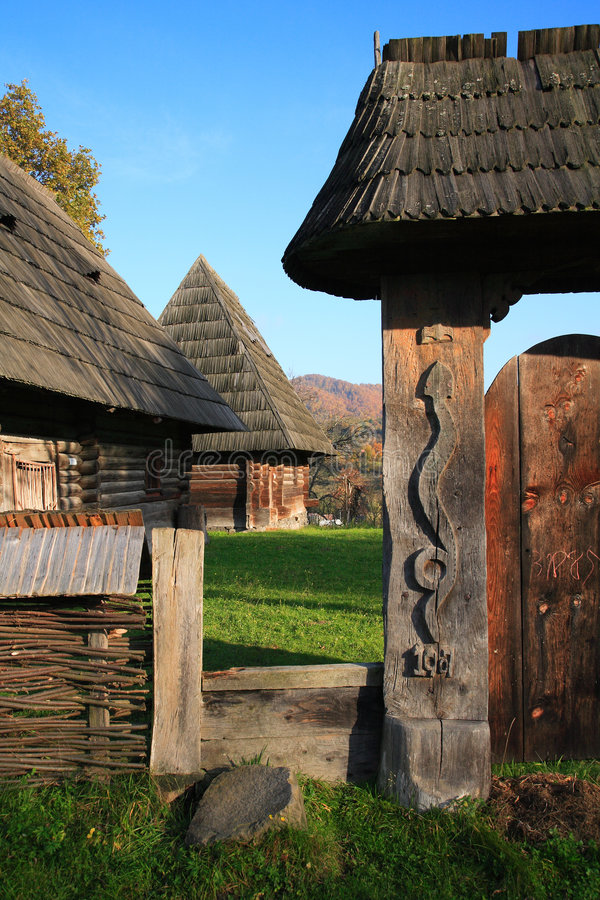 Traditional romanian architecture stock image