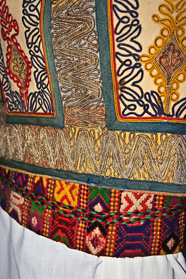 Traditional Romanian Folk Costume.Detail 18 Stock Photography