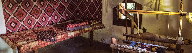 Traditional Romanian folk house interior royalty free stock photo