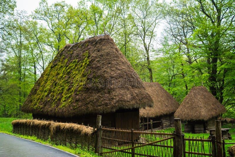 Traditional romanian houses astra ethnographic village museum sibiu romania stock image - Romanian peasant houses ...
