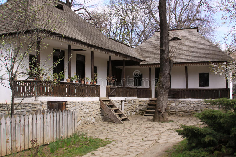 Traditional Romanian houses stock image