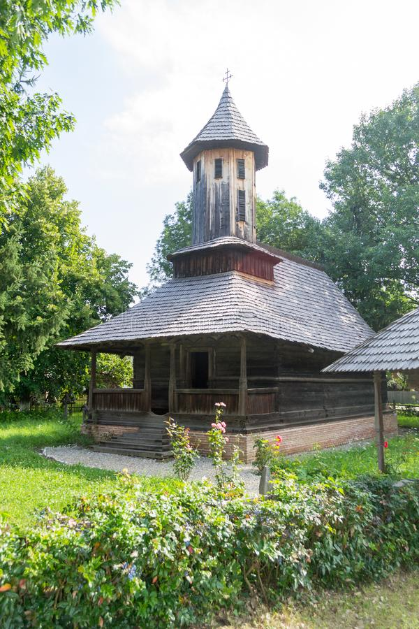 Traditional romanian orthodox wood church royalty free stock images