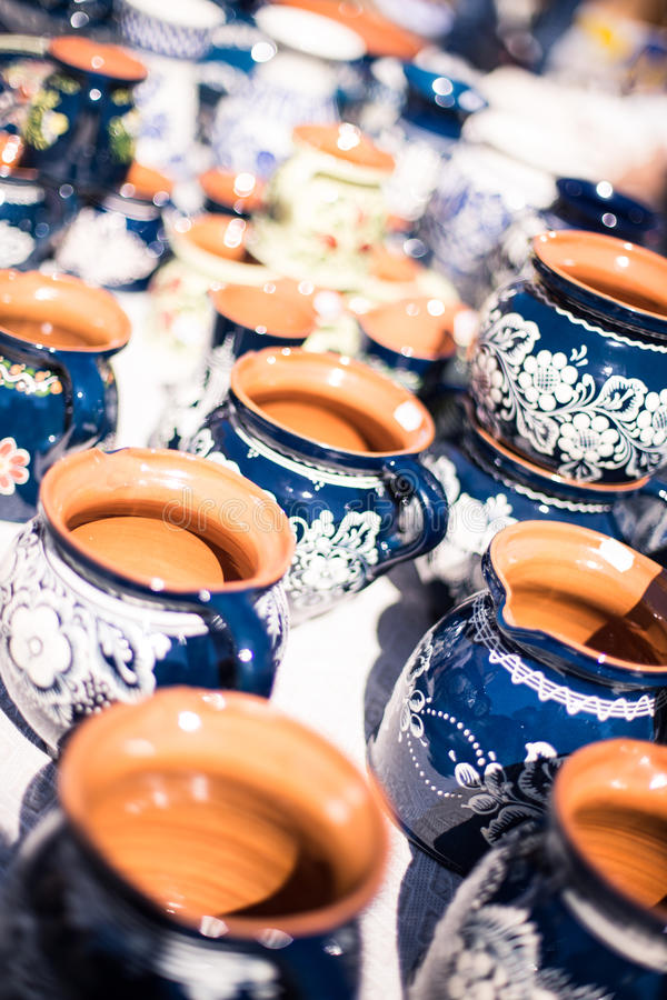 Traditional Romanian Pottery stock photography