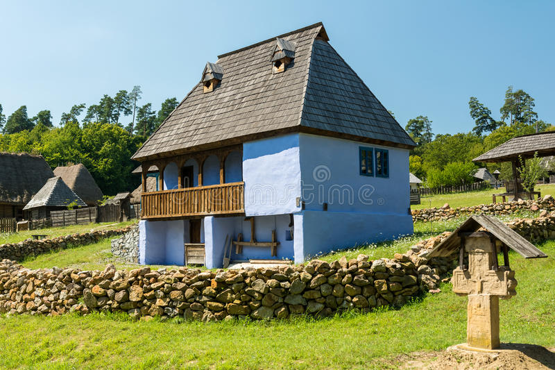 Traditional Romanian Village House stock photography