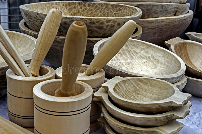 Download Traditional Romanian Wooden Objects Stock Photo - Image: 27742026