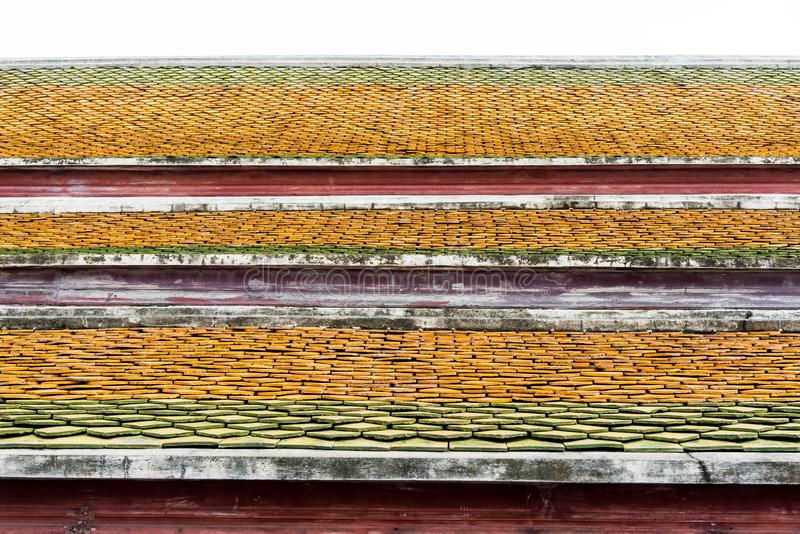 Traditional roof style of Thai temple. royalty free stock photography