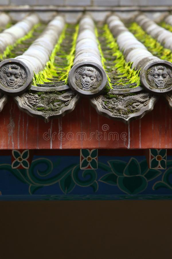 Chinese traditional roof tile stock images