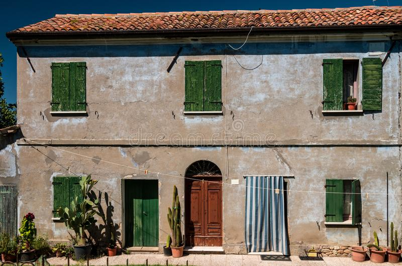 A traditional rural home in the Italian countryside. stock image