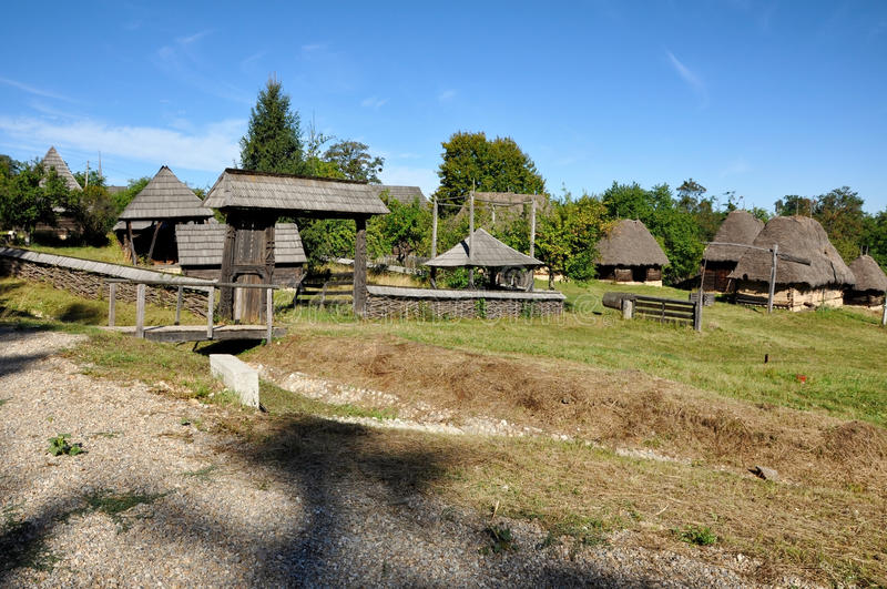 Traditional rural houses royalty free stock photography
