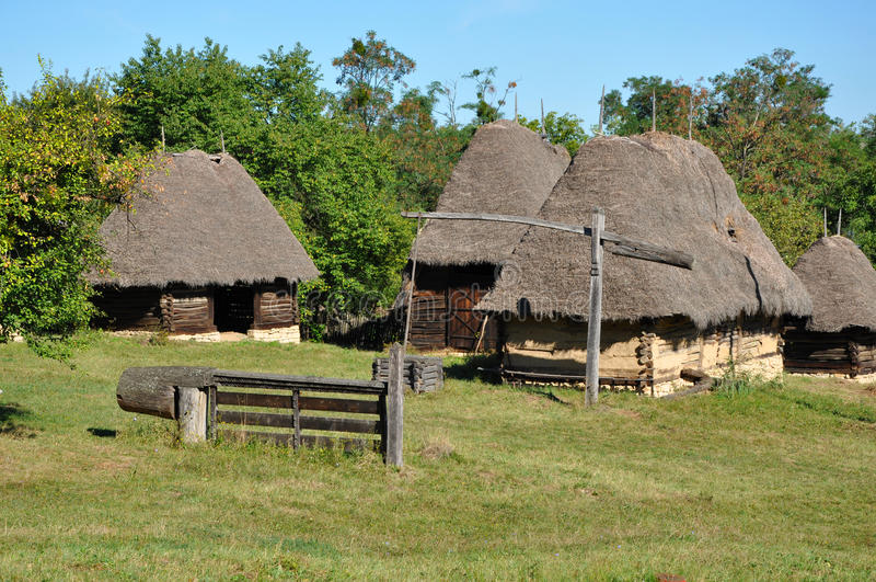 Traditional rural houses stock photo