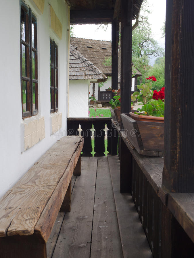 Traditional rural romanian house porch royalty free stock photos