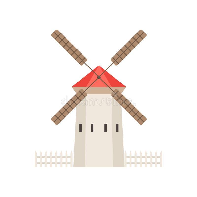 Rural Building, Countryside Construction Vector