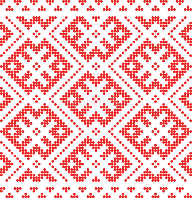 Traditional Russian and slavic ornament.Red circles pattern royalty free illustration