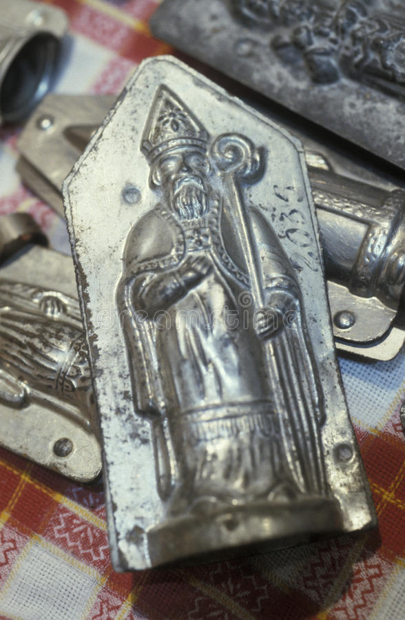 Traditional Saint-Nicolas Moulds Royalty Free Stock Images