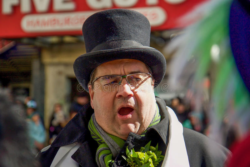Traditional Saint-Patrick parade royalty free stock images