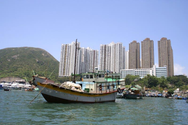 Traditional Sampan boat, Hong Kong, China royalty free stock image