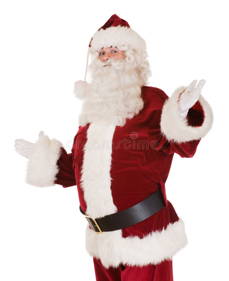 Traditional santa claus. Santa claus isolated on white background