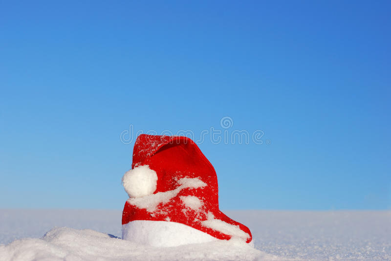 Download Traditional Santa Hat On Winter Stock Photo - Image: 16370690