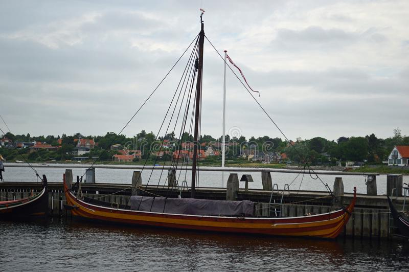 Traditional Scandinavian Vessels at Roskilde royalty free stock image