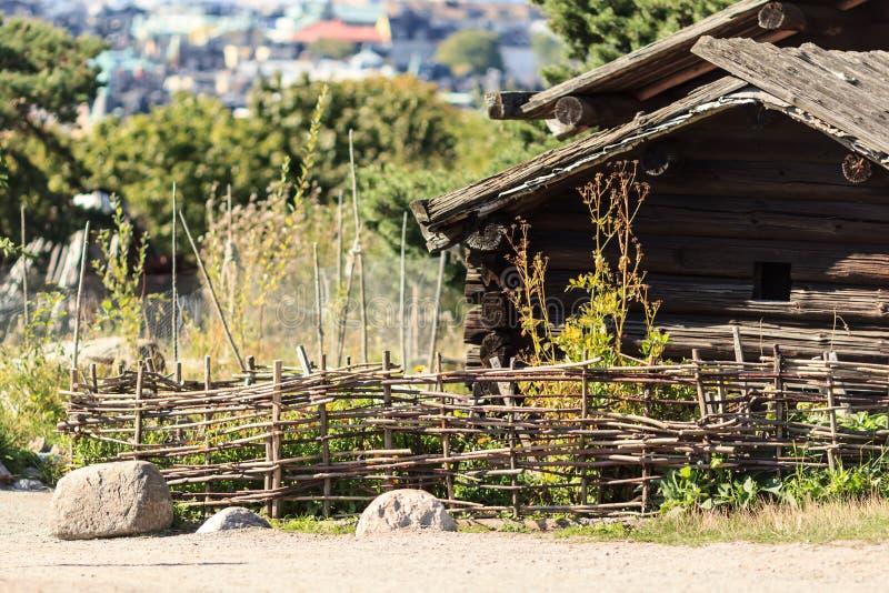 Traditional Scandinavian village stock photography