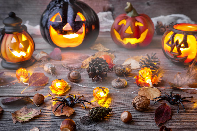 Traditional scary halloween holiday background. Traditional, spooky and scary halloween holiday background stock image