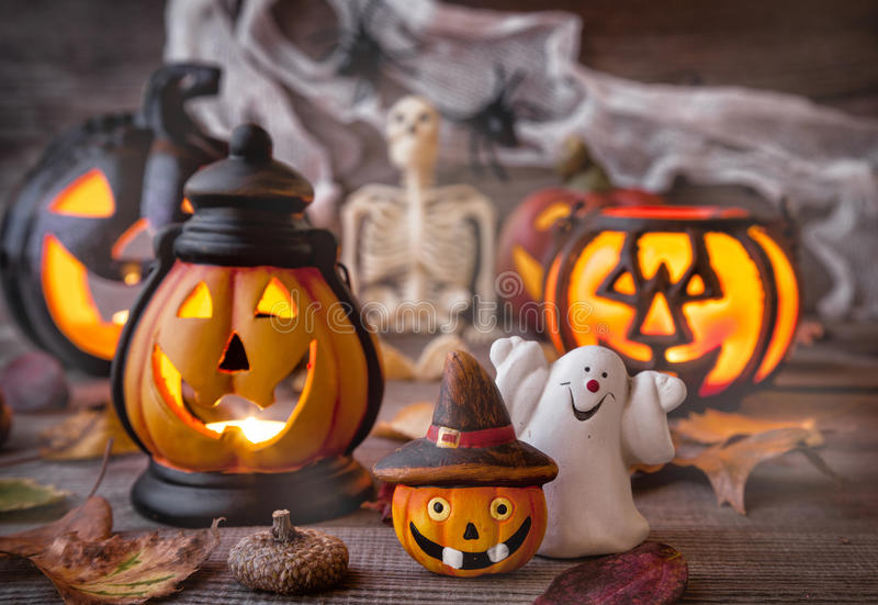 Traditional scary halloween holiday background. Traditional, spooky and scary halloween holiday background royalty free stock photography