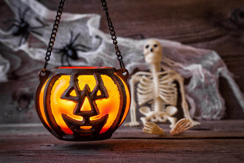 Traditional scary halloween holiday background. Traditional, spooky and scary halloween holiday background royalty free stock images