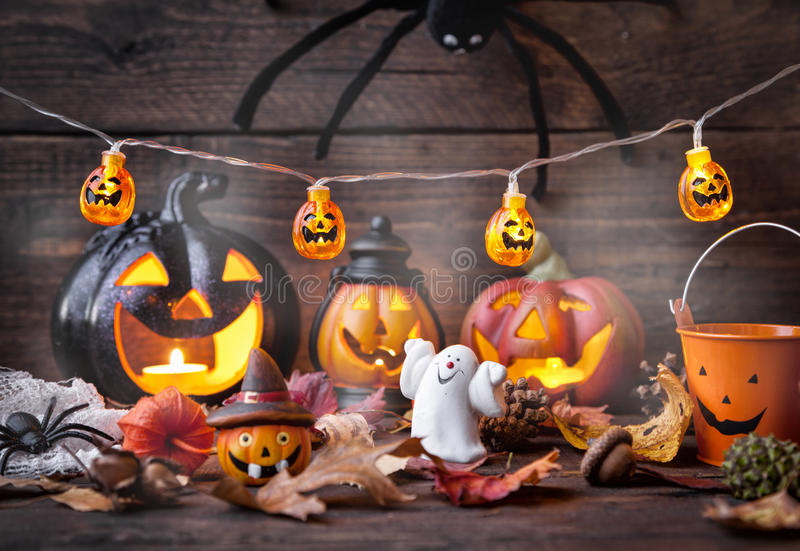 Traditional scary halloween holiday background royalty free stock images