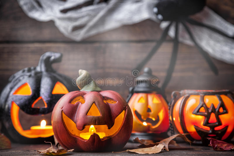 Traditional scary halloween holiday background royalty free stock image