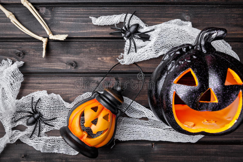 Traditional scary halloween holiday background. Traditional, spooky and scary halloween holiday background royalty free stock photos