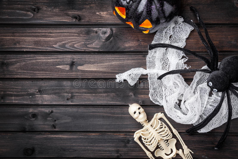 Traditional scary halloween holiday background stock photo