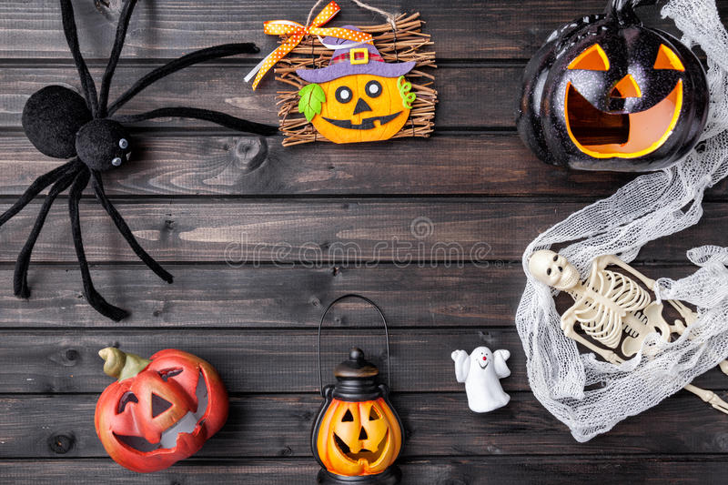 Traditional scary halloween holiday background stock photos