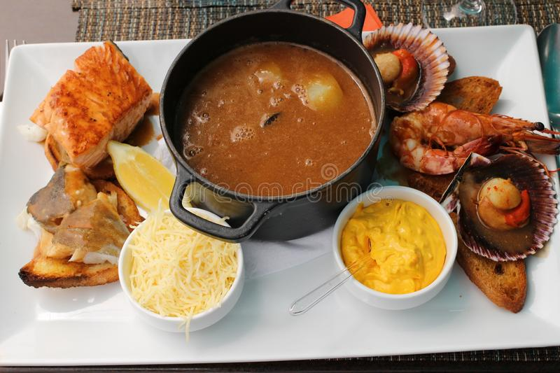 Seafood Stew on the French Riviera royalty free stock photography