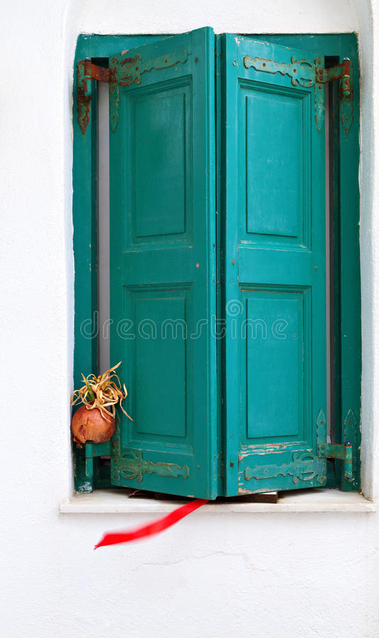 Traditional Shutters From Greece Royalty Free Stock Photography