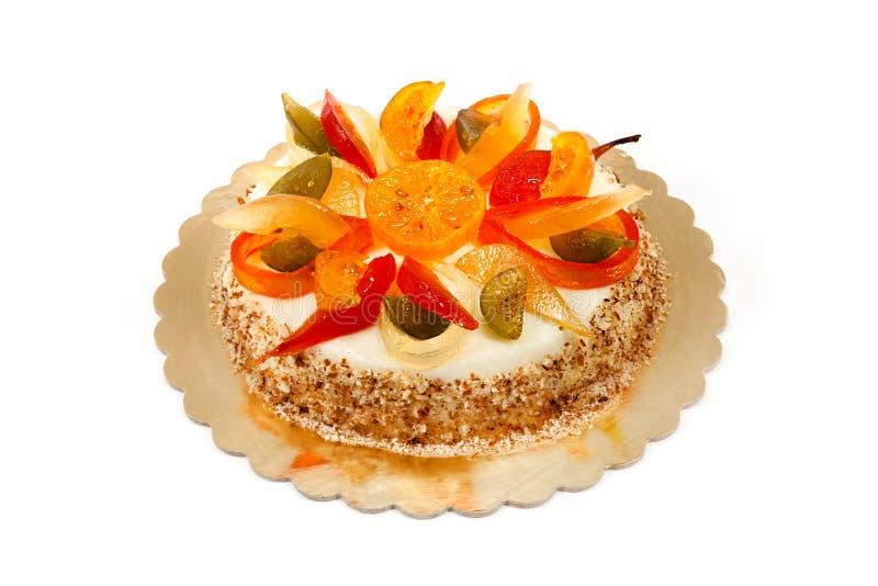 Traditional sicilian cake Cassata stock photos