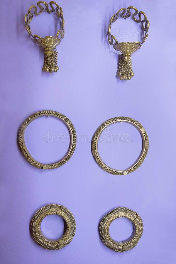 Free Traditional Silver Or White Metal Jewelry From 17th Century Stock Image - 109447541