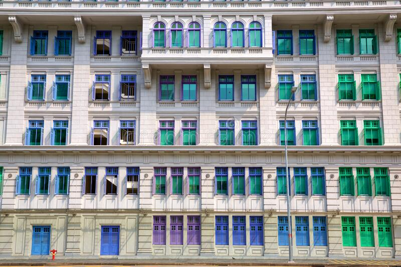 Traditional Singapore house royalty free stock photo