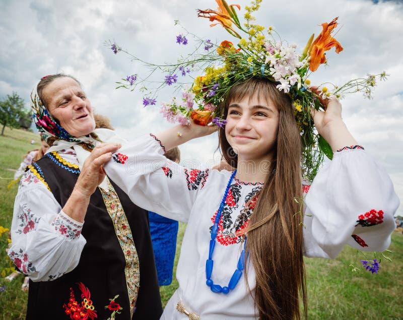 Traditional Slavic celebrations of Ivana Kupala stock image