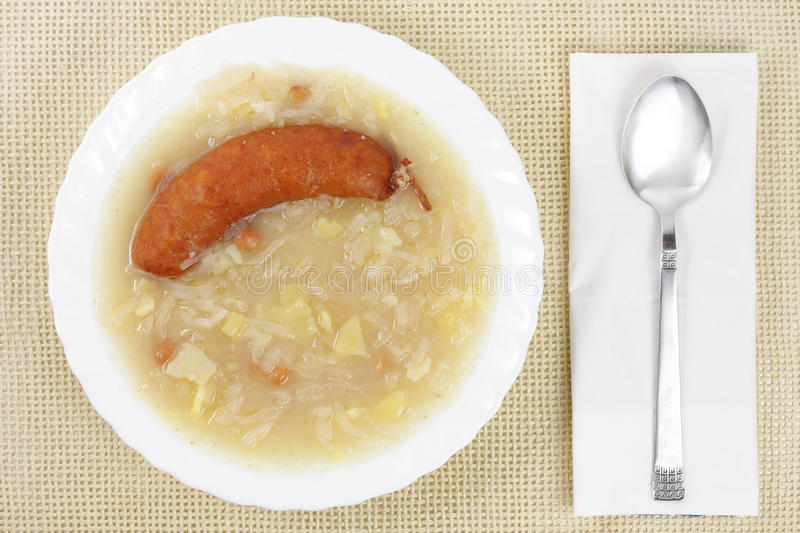 Traditional slovenian food stock photography