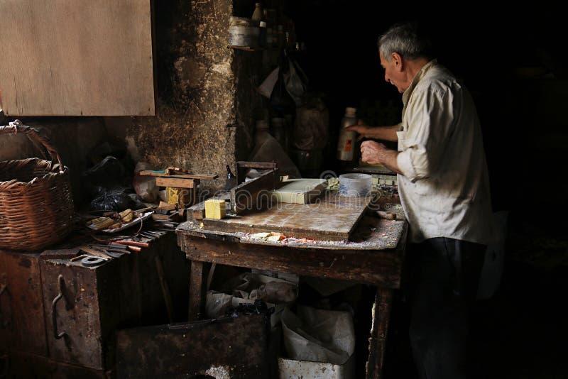 Traditional Soap Making, Tripoli, Lebanon royalty free stock image