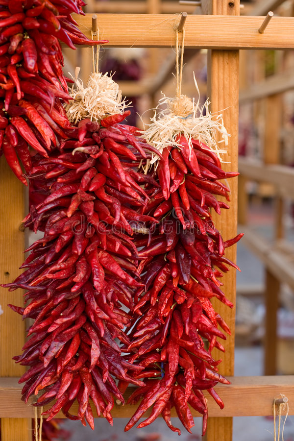 Traditional southwest chili decorations royalty free stock images