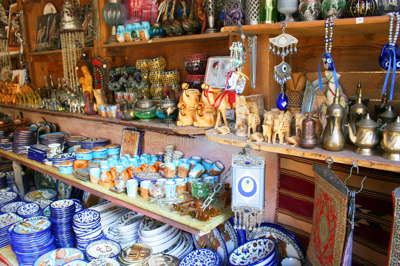 Traditional souvenirs in Jordan, Middle East stock images