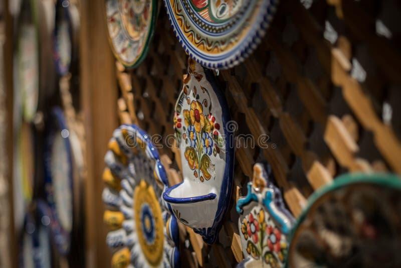 Traditional Spanish Hand Painted Ceramic stock image