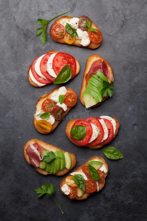 Traditional spanish tapas stock images
